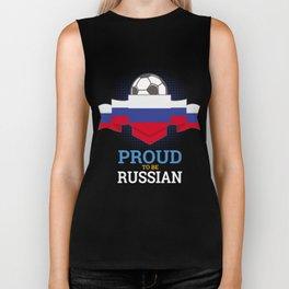 Football Russian Russia Soccer Team Sports Footballer Goalie Rugby Gift Biker Tank