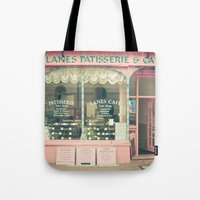 cafe Tote Bags featuring Sweet Cafe by Cassia Beck