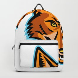Coyote Head Front Mascot Backpack