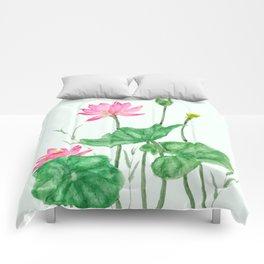lotus flower Comforters