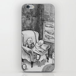Whale Reader iPhone Skin