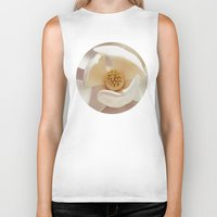 magnolia Biker Tanks featuring Magnolia by Esther Ní Dhonnacha