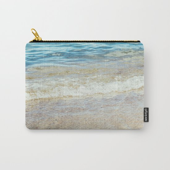 Wave Closeup At Blue Sea Carry-All Pouch