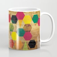 bebop Mugs featuring Wood Prints by Simi Design