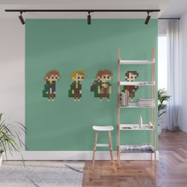 Frodo, Sam, Pippin and merry Wall Mural