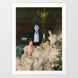 Dracula and the Wyndham Brides Art Print