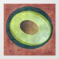 avocado Canvas Prints featuring Avocado by Red Coat Studio Design