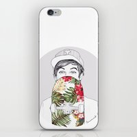 coconutwishes iPhone & iPod Skins featuring L Skate by Coconut Wishes