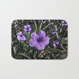 Purple Flower Bloom Bath Mat
