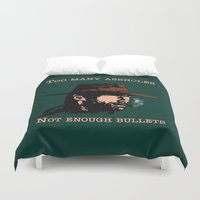 clint eastwood Duvet Covers featuring Clint Eastwood by Mr. Stonebanks