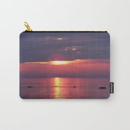 Holes in the Clouds, sunset on the water Carry-All Pouch