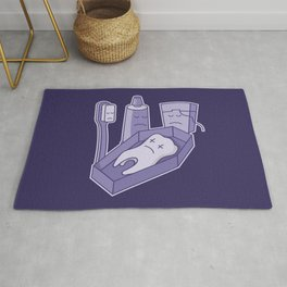 Tooth funeral Rug
