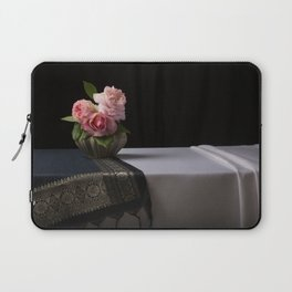 Roses and silk still life Laptop Sleeve
