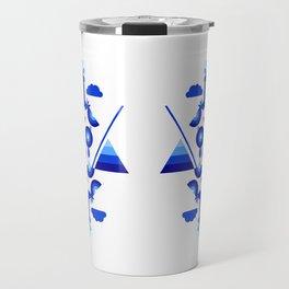 Libra in Blue Travel Mug