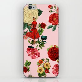 Keep it clean floral collage pink iPhone Skin