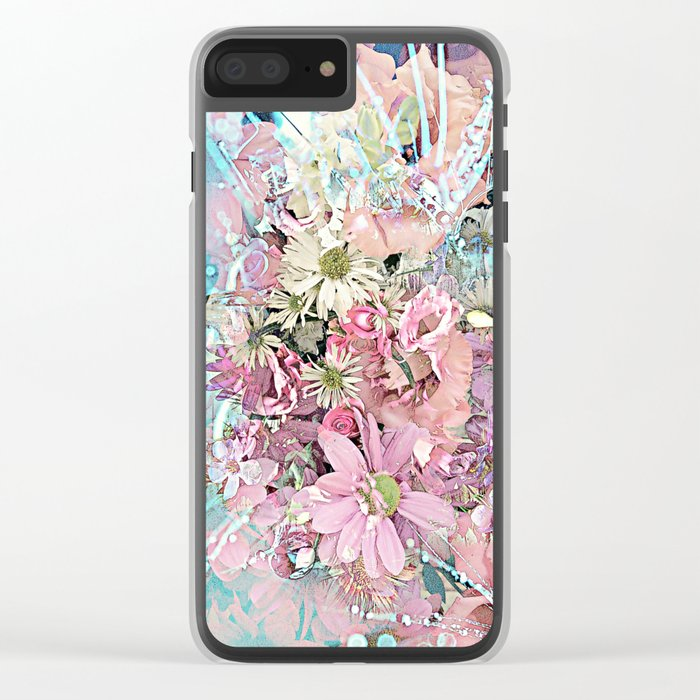 Party Flowers Clear iPhone Case
