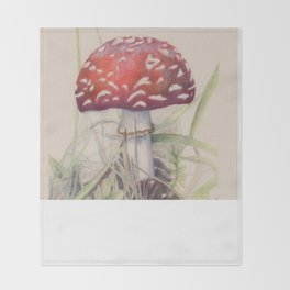Amanita muscaria Throw Blanket