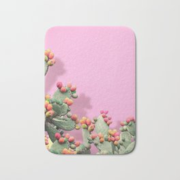 Prickly Pear plants on Pink Bath Mat
