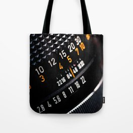 Photography Lens Detail Tote Bag