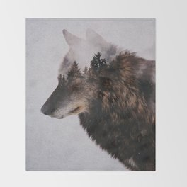Canis Lupus Throw Blanket