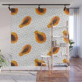 Papaya vibes Wall Mural