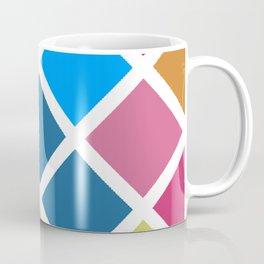 Colorful geometrical rhombus pattern Coffee Mug