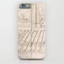 Johann Bayer - Uranometria / Measuring the Heavens (1661) - 38 Argo Navis iPhone Case