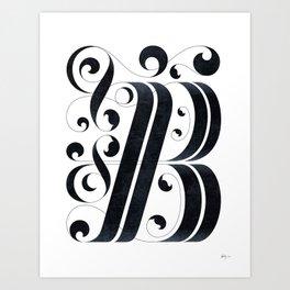 "Drop cap ""B"" Art Print"
