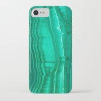 malachite iPhone & iPod Cases featuring Malachite Stone by BrooklynThread