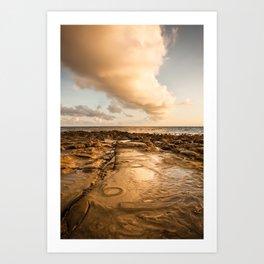 Rocky beach at tip of Borneo Art Print
