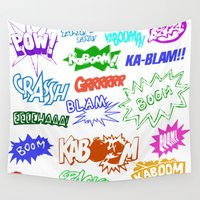comic Wall Tapestries featuring Comic Phrases by ErikMcManusInc.