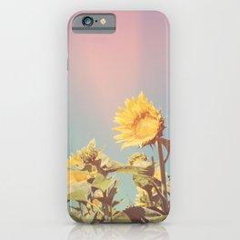 Retro Sunflowers - Nature Photography iPhone Case