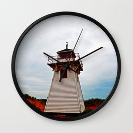 Lighthouse on Red Sands Wall Clock