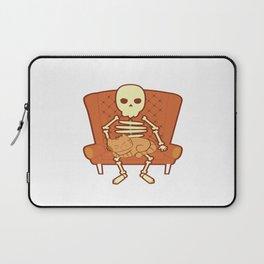 Cat Lover Kitten Feline Skull Skeleton Couch Gift Laptop Sleeve