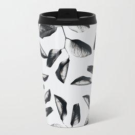 black leaves Metal Travel Mug