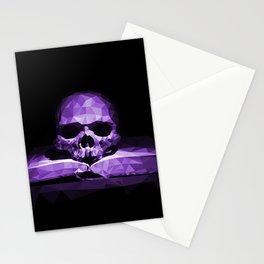Memento mori - royal violet Stationery Cards