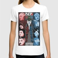 n7 T-shirts featuring N7: The Female Squad by Alex Rodway Illustration
