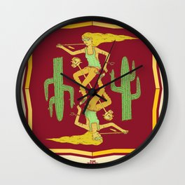 Day Tripper. (conjoined twins) Wall Clock