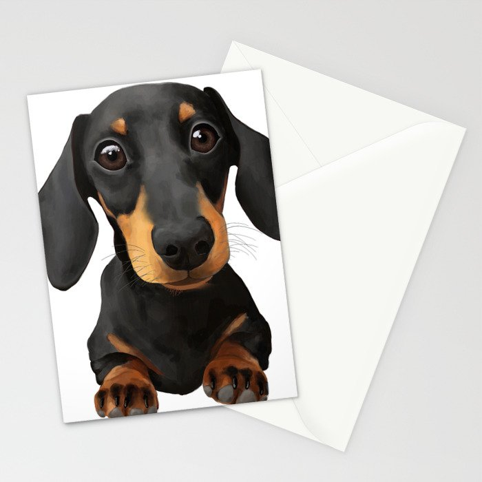 Cute Sausage Dog Stationery Cards