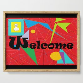 American Sign Language ASL WELCOME Serving Tray