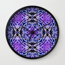 Echeveria Bliss Two Wall Clock