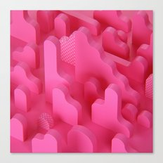 Abstract Shapes in Pink Canvas Print