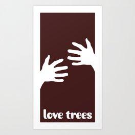 LOVE TREES (large graphic) Art Print