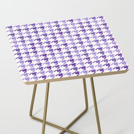 AFE Violet Houndstooth Pattern Side Table