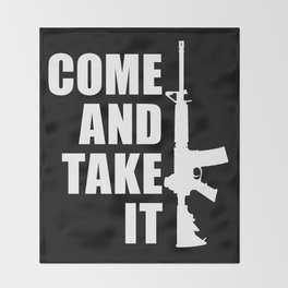 Come and Take it with AR-15 inverse Throw Blanket