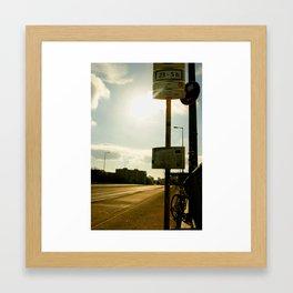 Bus Station Framed Art Print