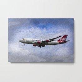 Virgin Atlantic Boeing 747 Art Metal Print