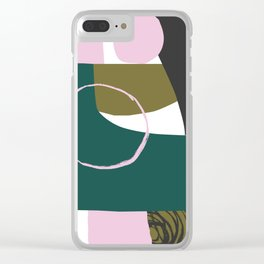 Abstract Damage Clear iPhone Case