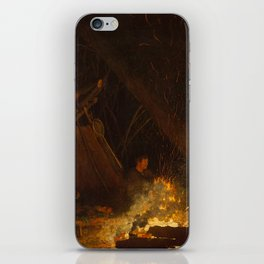 Camp Fire by Winslow Homer, 1880 iPhone Skin