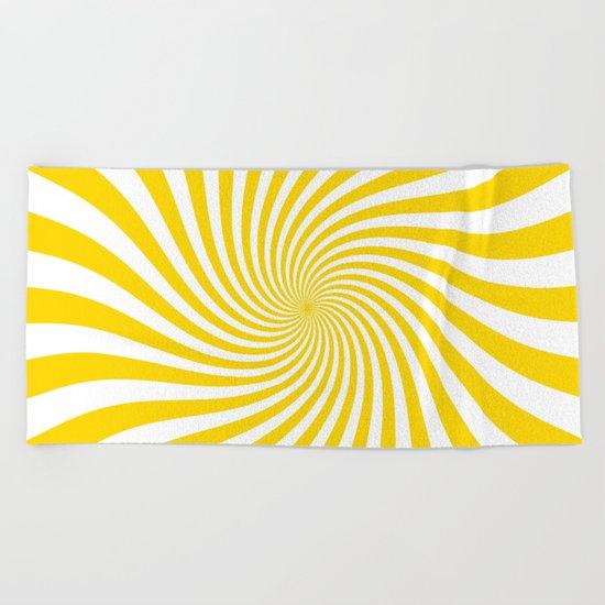 Swirl (Gold/White) Beach Towel